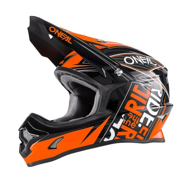Кроссовый шлем 3Series FUEL чёрно-оранжевый фото 1