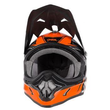 Кроссовый шлем 3Series FUEL чёрно-оранжевый фото 2