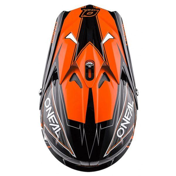 Кроссовый шлем 3Series FUEL чёрно-оранжевый фото 3