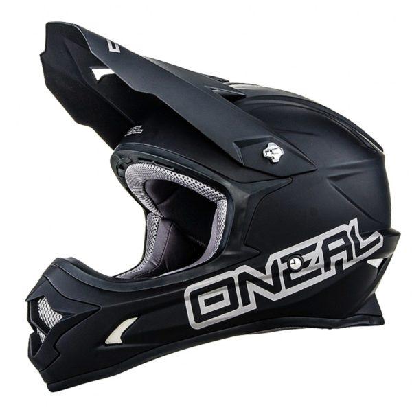 Кроссовый шлем 3Series MATTE чёрный фото 1