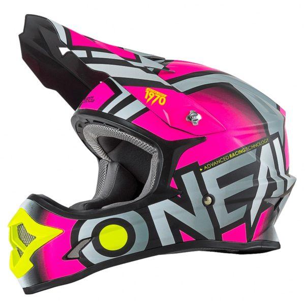Кроссовый шлем 3Series RADIUM розовый фото 1