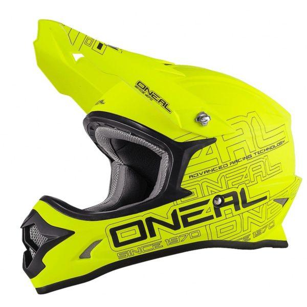 Кроссовый шлем 3Series SOLID флуо-желтый фото 1