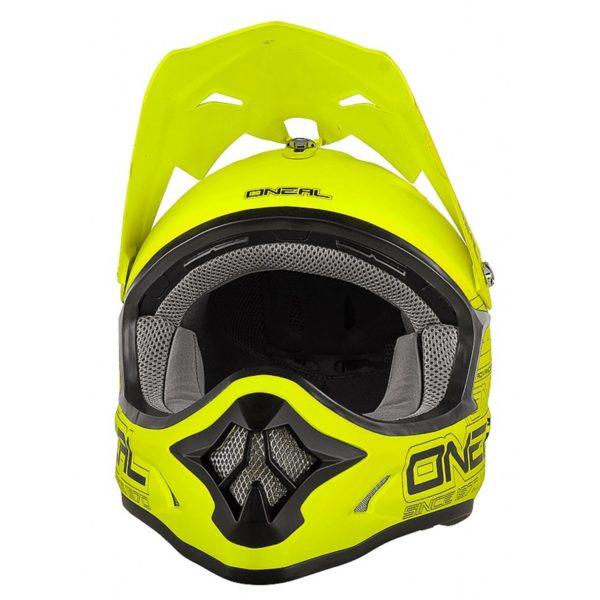 Кроссовый шлем 3Series SOLID флуо-желтый фото 2