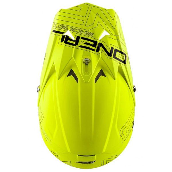 Кроссовый шлем 3Series SOLID флуо-желтый фото 3