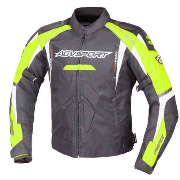 Куртка текстильная SUBWAY черн. Флюресцестно-желтая фото 1
