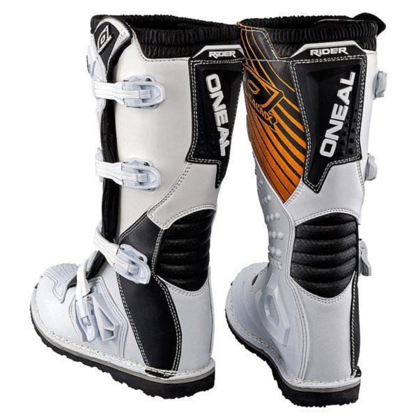Мотоботы кроссовые Rider Boot белые фото 5