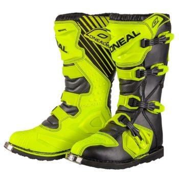 Мотоботы кроссовые Rider Boot флуоресцентно-желтые фото 1