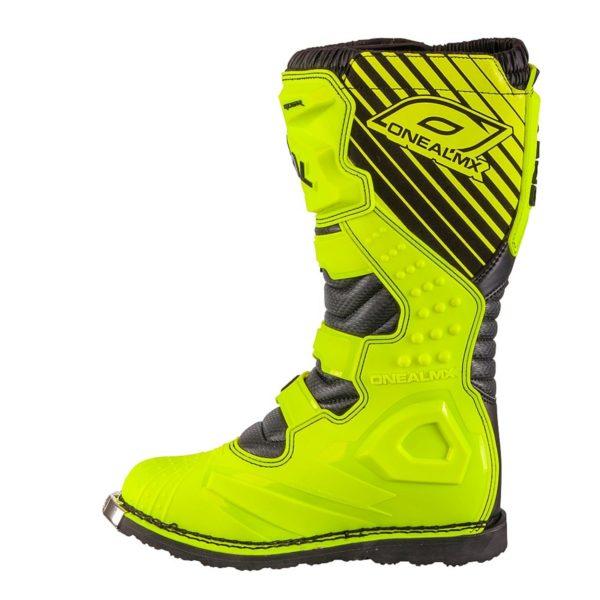 Мотоботы кроссовые Rider Boot флуоресцентно-желтые фото 3