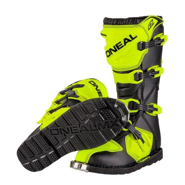 Мотоботы кроссовые Rider Boot флуоресцентно-желтые фото 4