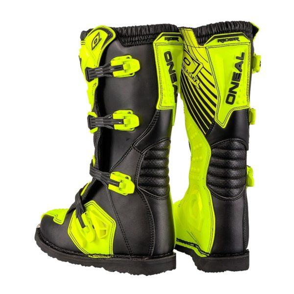 Мотоботы кроссовые Rider Boot флуоресцентно-желтые фото 5
