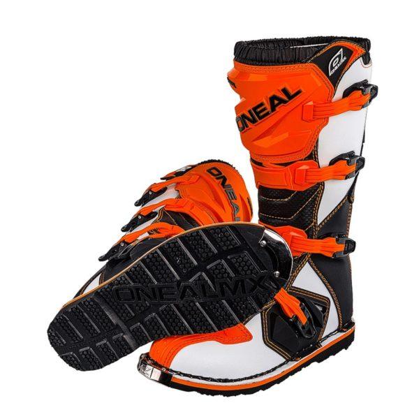 Мотоботы кроссовые Rider Boot оранжевые фото 3