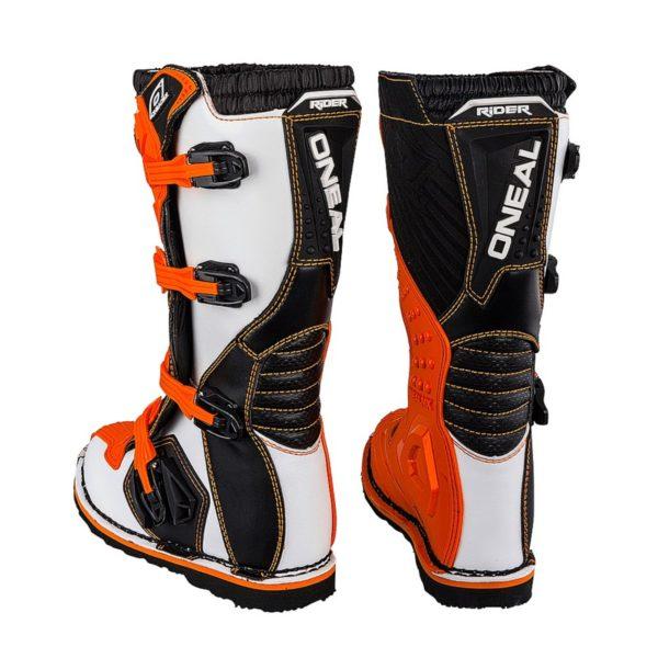 Мотоботы кроссовые Rider Boot оранжевые фото 4
