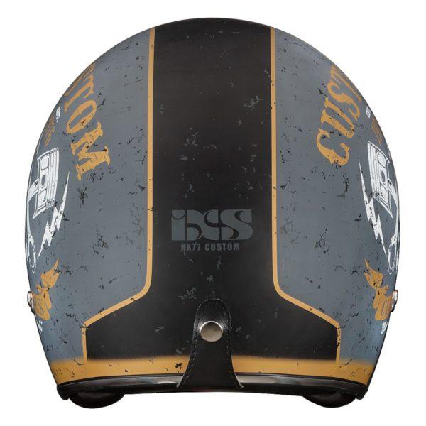 Шлем открытый HX 77 Custom серебро-черный мат фото 3
