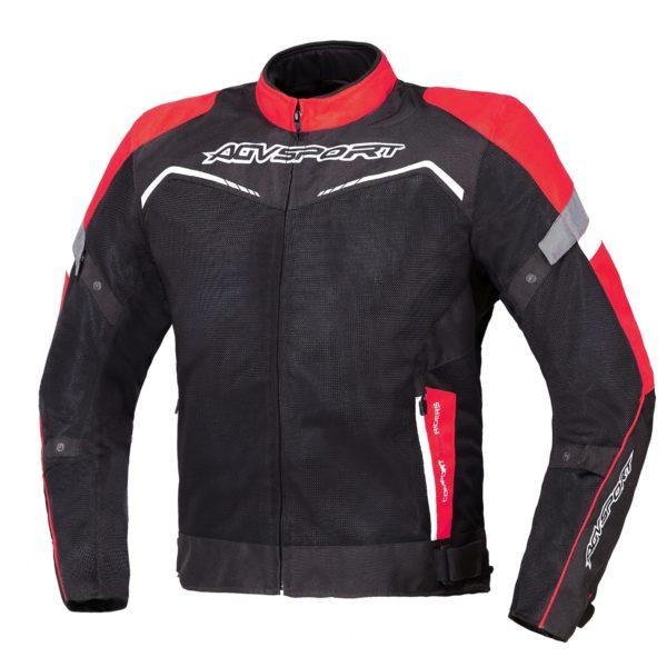 Текстильная куртка Testilo черно-красная фото 1
