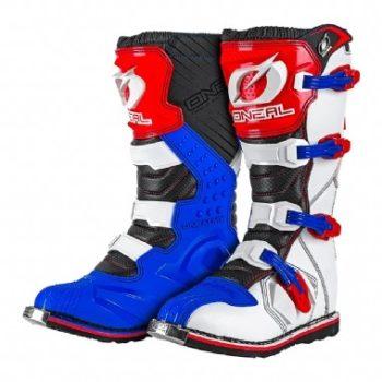 ONEAL Мотоботы кроссовые RIDER Boot бело-сине-красные