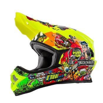 ONEAL Шлем кроссовый 3Series CRANK флуо желтый