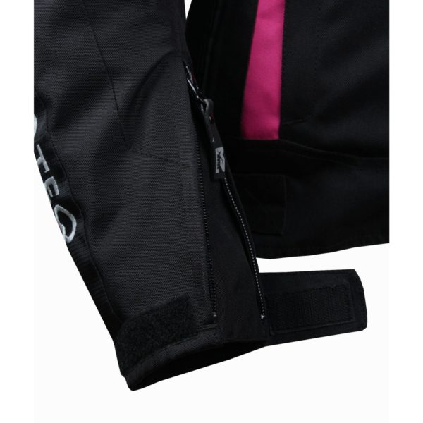 MOTEQ Текстильная женская куртка ASTRA черно-розовая