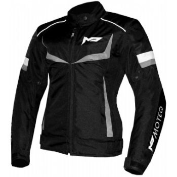 MOTEQ Текстильная женская куртка ASTRA черно-серая