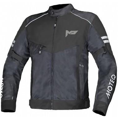 MOTEQ Текстильная куртка AIRFLOW черная