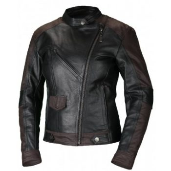 MOTEQ Кожаная женская куртка Teacher Wax