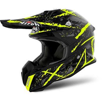 Шлем кроссовый Terminator Airoch Open Vision Carnage желтый