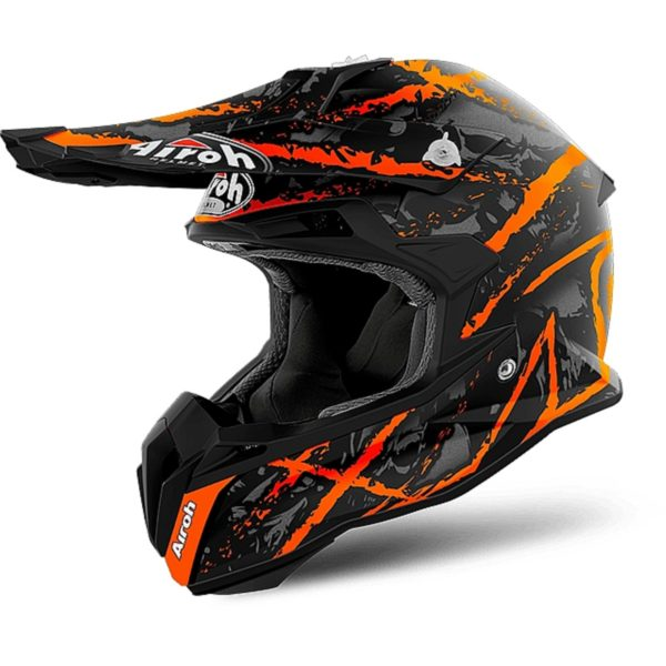 Airoch Шлем кроссовый Terminator Open Vision Carnage оранжевый