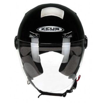 ZEUS Открытый шлем ZS-210B черный глянец