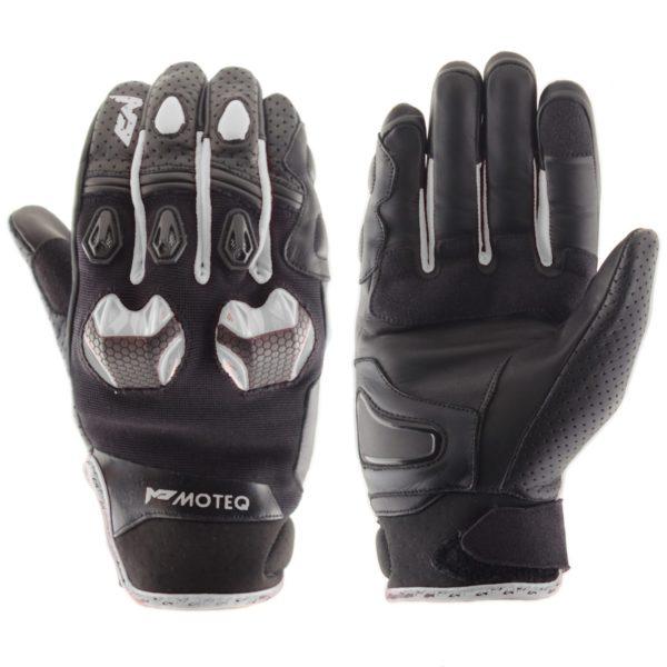 MOTEQ Кожаные перчатки Stinger белые