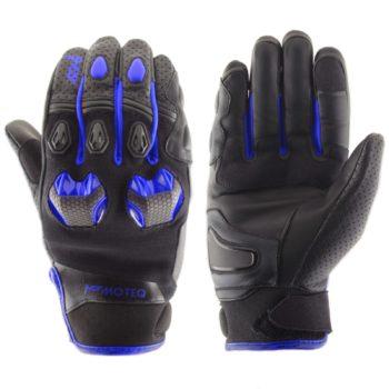MOTEQ Кожаные перчатки Stinger синие