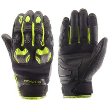 MOTEQ Кожаные перчатки Stinger флуоресцентно-желтые