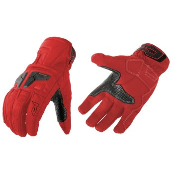 MOTEQ Туристические кожаные перчатки Venus красные