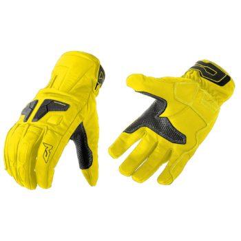 MOTEQ Туристические кожаные перчатки Venus флуоресцентно-желтые