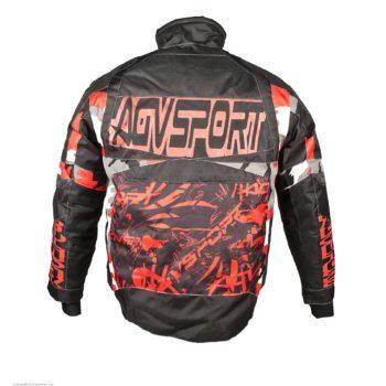 AGVSPORT Снегоходная куртка Taiga, черная/красная