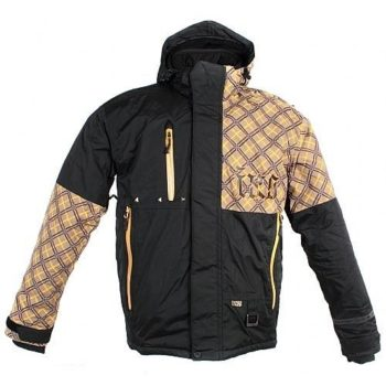 IXS Куртка для езды на снегоходе SQUARE коричневая клетка.