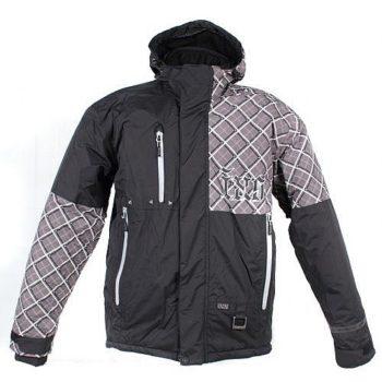 IXS Куртка для езды на снегоходе SQUARE серая клетка.