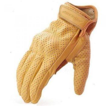AGVSPORT Перчатки кожаные Classic с перфорацией бежевые